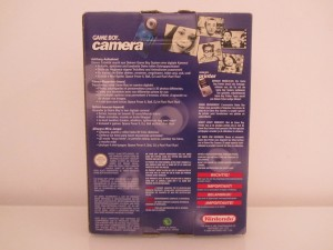 Game Boy Camera Bleu Back