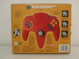Manette Nintendo 64 Rouge Back