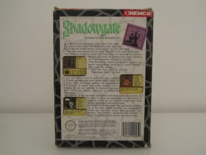 Shadowgate Back