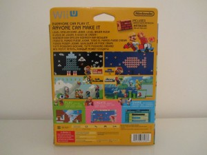 Super Mario Maker Collector Back