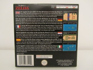 The Legend Of Zelda GBA Back