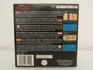 The Legend Of Zelda GBA Back